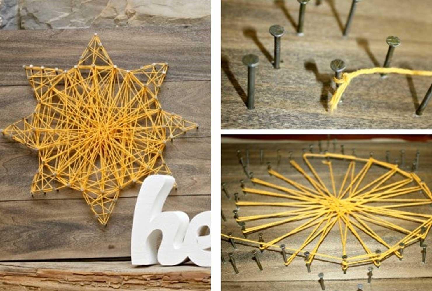 DIY String Art for Home Decoration